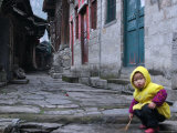 Child Playing on the Street  China