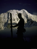 Skier&#39;s Silhouette  Tibet