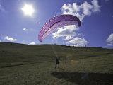 Paraglider on Field  USA