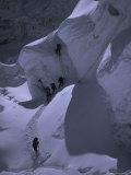Climbing Khumbu Ice Fall  Nepal