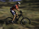 Fast Moving Mountain Biker  Mt Bike