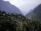 Mountain Village  Nepal