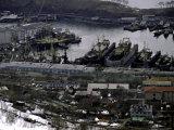 Old Ships in Petropavlavsk  Russia