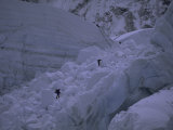 Climbing Khumbu Ice Fall  Everest  Nepal