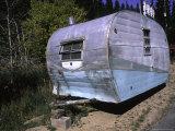 Old Camper at a Car Cemetery in Colorado