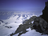Snowy Mountains in Alaska  USA