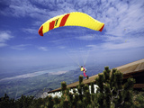 Paragliders Mount Tegelberg  West Germany