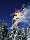 Snowboarder with Outstretched Arms