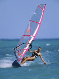 Woman Windsurfing
