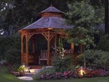 Garden Gazebo at Night