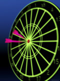 Neon Darts and Dartboard