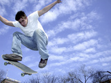Skateboarder in Midair