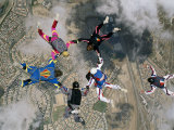 Skydivers Forming a Circle