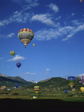 Forty Balloon Race Aspen  Colorado  USA