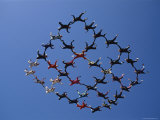 Skydivers in a Diamond Formation