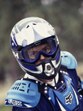 Portrait of a Male Motorcycle Racer