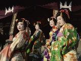 Apprentice Geisha (Maiko)  Women Dressed in Traditional Costume  Kimono  Kyoto  Honshu  Japan