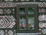 Traditional House Painting Cicmany  Mountain Regions  Slovakia