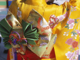 Tied Silk Sash (Obi)  Kimono  Traditional Dress  Japan