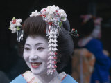 Portrait  Apprentice Geisha (Maiko)  Woman Dressed in Traditional Costume  Japan