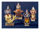 Four of the Incarnations of Vishnu