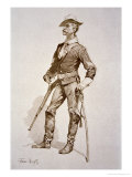 Sergeant of US Cavalry  After a Drawing of 1890