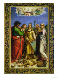 St Cecilia Surrounded by St Paul  St John the Evangelist  St Augustine and Mary Magdalene