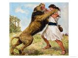 Samson Fighting a Lion