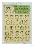 Art Nouveau Alphabet 1903