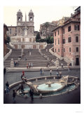 View of the Spanish Steps or Scalinata  Designed by Francesco de Santis