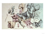 Comic Map of Europe by Frederick Rose  c1870