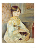 Julie Manet with Cat  1887