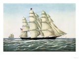 "The Clipper Ship ""Flying Cloud""  Published by Currier and Ives  1852"
