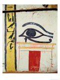 Wedjat Eye  Detail from the Sarcophagus Cover of the Lady of Madja  New Kingdom  c1450 BC