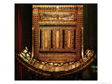 Ceremonial Chair of Tutankhamun  Detail of the Curved Seat and Back  New Kingdom  c1325 BC