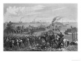 Landing of Troops on Roanoke Island  Burnside Expedition  1862  Engraved by George E Perine