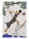 The Swing, 1920S Reproduction d'art par Georges Barbier