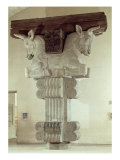 Capital in Persian Style  Column in Apadana  Palace of Darius the Great at Susa  Iran  c 500 BC