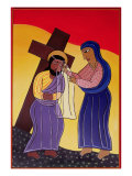Jesus and Veronica  No 6 in 14 Stations of the Cross Series  2002