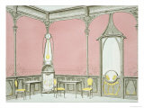 Interior Design For a Brasserie  Illustration from Menuiserie D'Art Nouveau  Published c1900