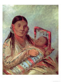 Sioux Mother and Baby  c1830