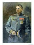 Portrait of the Marshal of the Soviet Union and Poland  Konstantin Rokossovsky