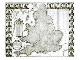 Map of England and Wales  1644