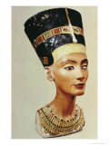 Bust of Queen Nefertiti  from the Studio of the Sculptor Thutmose at Tell El-Amarna