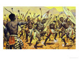 Zulu Warriors Being Forced by Shaka to Dance on Thorny Ground