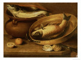 Still Life of Fish and Lemons