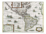 Map of the Americas  1631