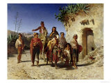 Gypsy Family on the Road  c1861