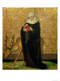 Female Saint with a Stag