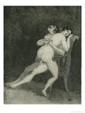 Erotic Couple on a Chair  c1880